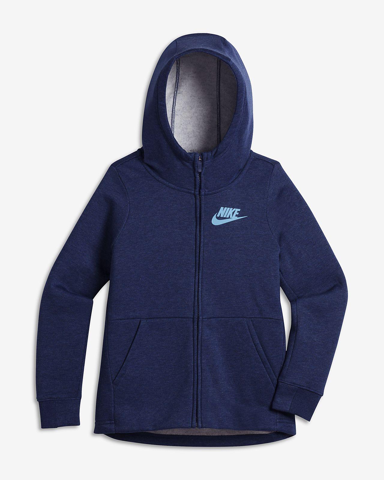 100% authentic a1957 fee6a ... new style nike sportswear hoodie für ältere kinder mädchen mit  durchgehendem reißverschluss 33ff9 53278