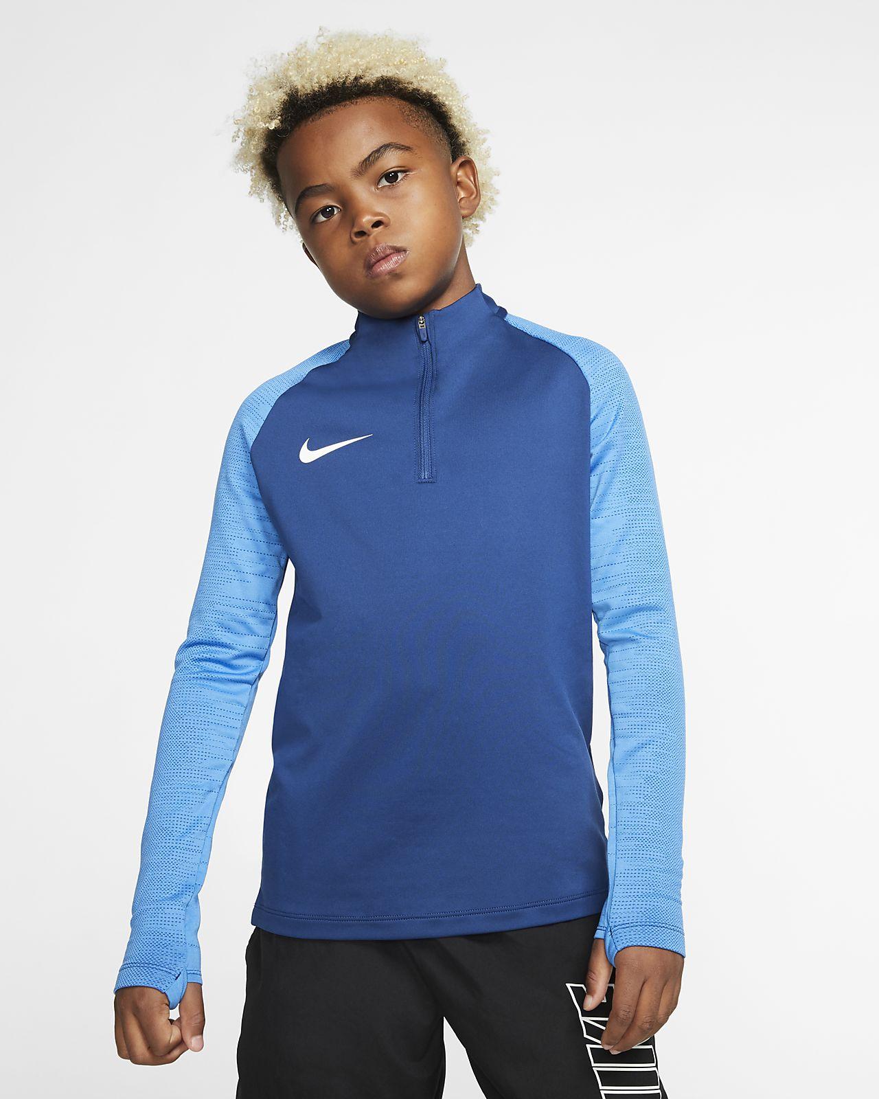 Ποδοσφαιρική μπλούζα προπόνησης Nike Dri-FIT Strike για μεγάλα παιδιά