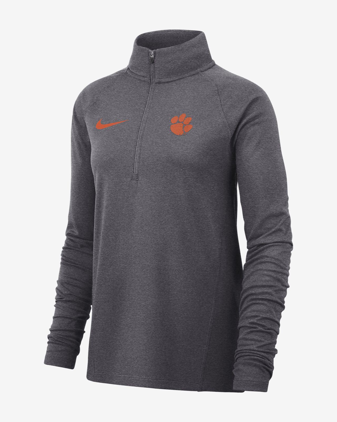 Nike College Therma (Clemson) Women's Long-Sleeve 1/2-Zip Top