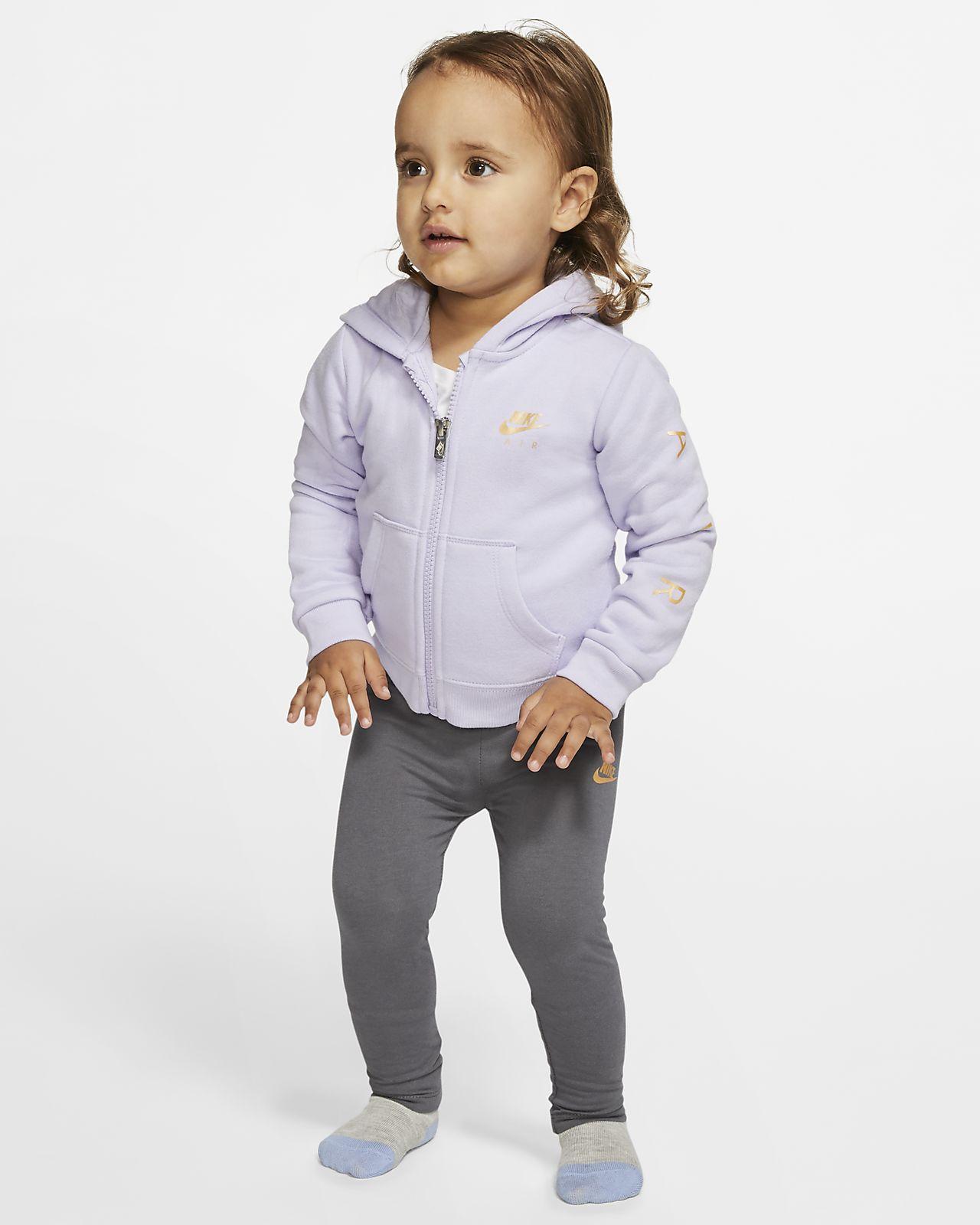 Nike Air Conjunt de 2 peces de part superior amb caputxa i leggings - Nadó