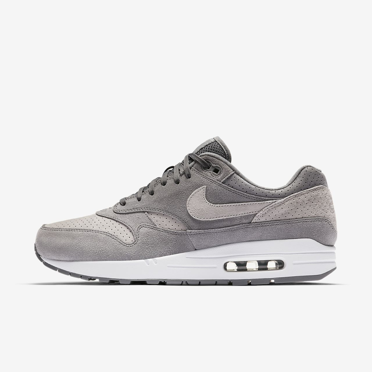 nike womens air max 1 essential trainers in black anthracite and purple nz