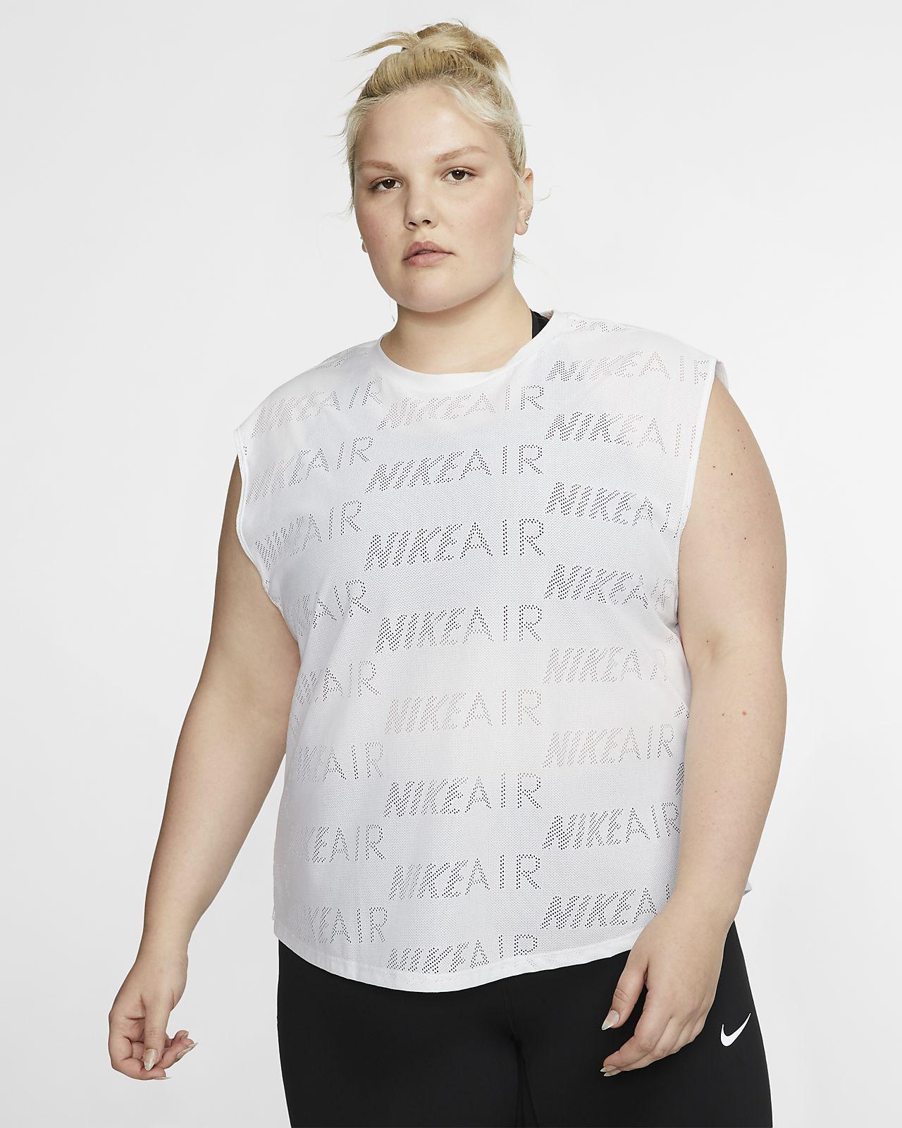 Nike Air Camiseta de running de manga corta (Talla grande) - Mujer