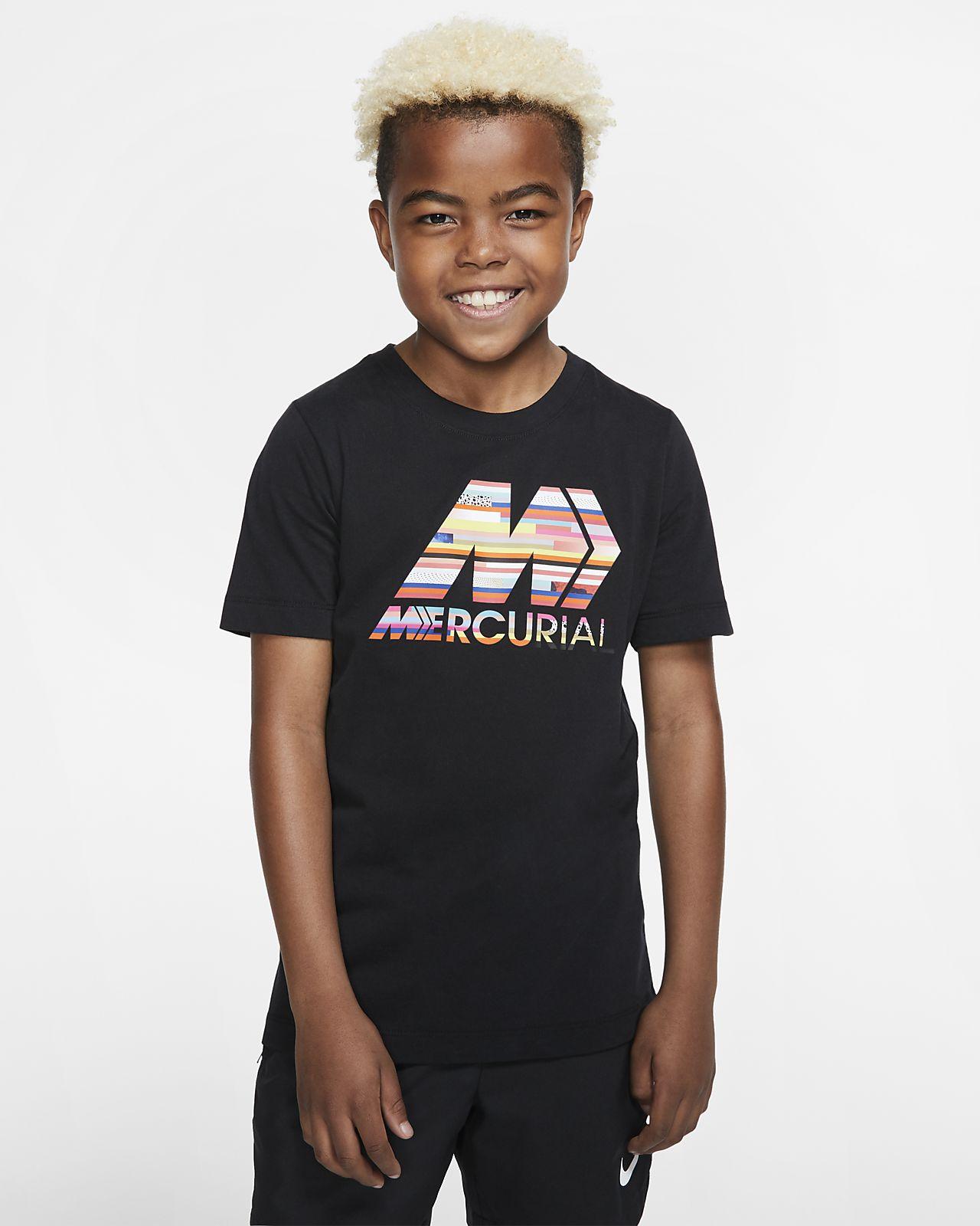 T-shirt piłkarski dla dużych dzieci Nike Dri-FIT Mercurial