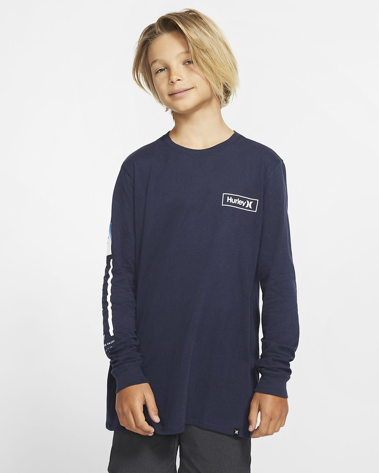 Hurley Premium Right Arm Langarm-Premium-Fit-T-Shirt für Jungen