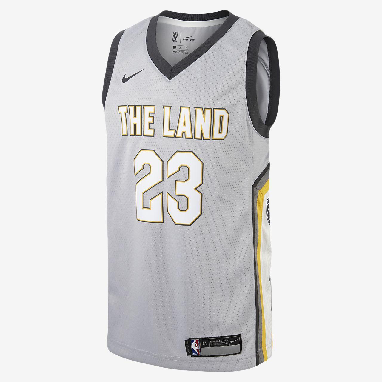 ... Maillot Nike NBA LeBron James City Edition Swingman (Cleveland  Cavaliers) pour Enfant plus âgé