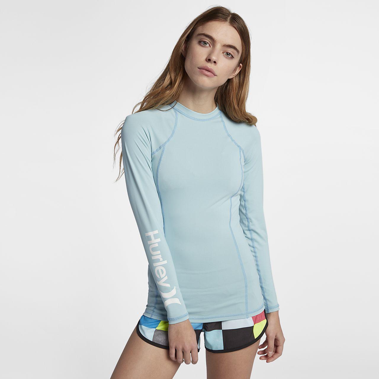 Hurley One And Only Rashguard Damen-Surf-Shirt