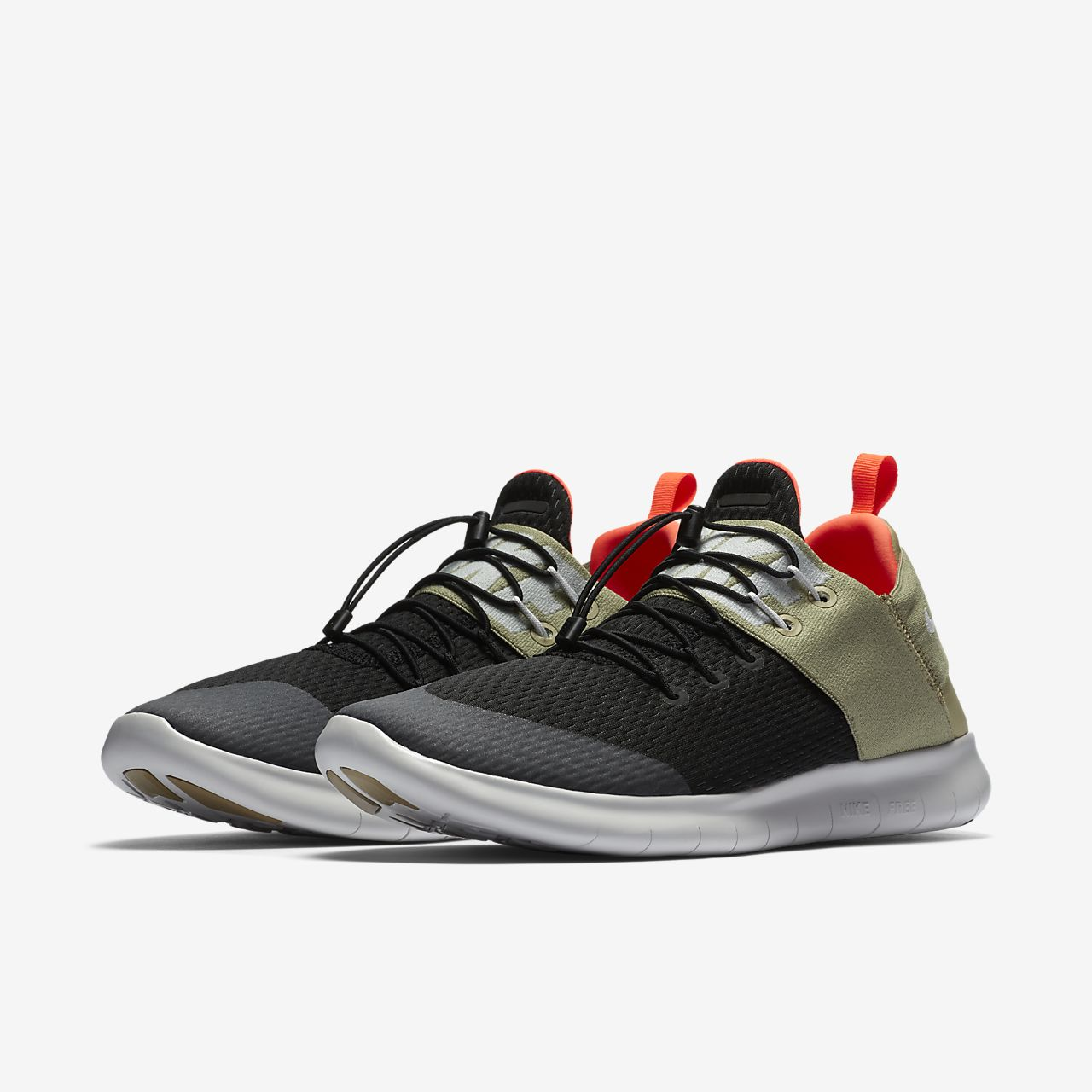 Nike Libre Rn Banlieusard 2017 Chaussures De Course Noir Noir 9ComC