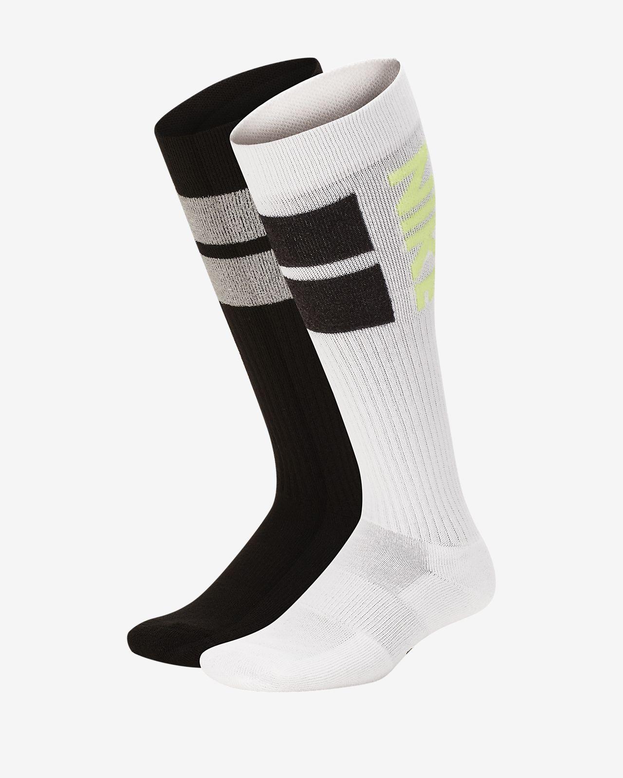 Nike Swoosh Cushioned Over-the-Calf 儿童运动童袜(2 双)
