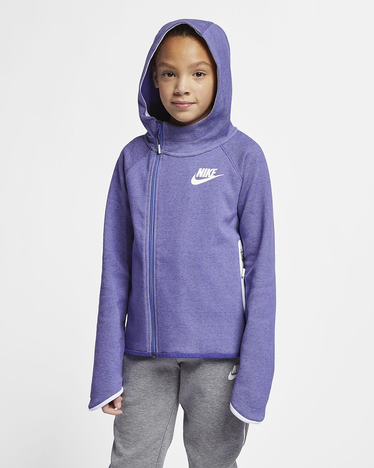 Nike Sportswear Tech Fleece Hoodie mit durchgehendem Reißverschluss für ältere Kinder (Mädchen)