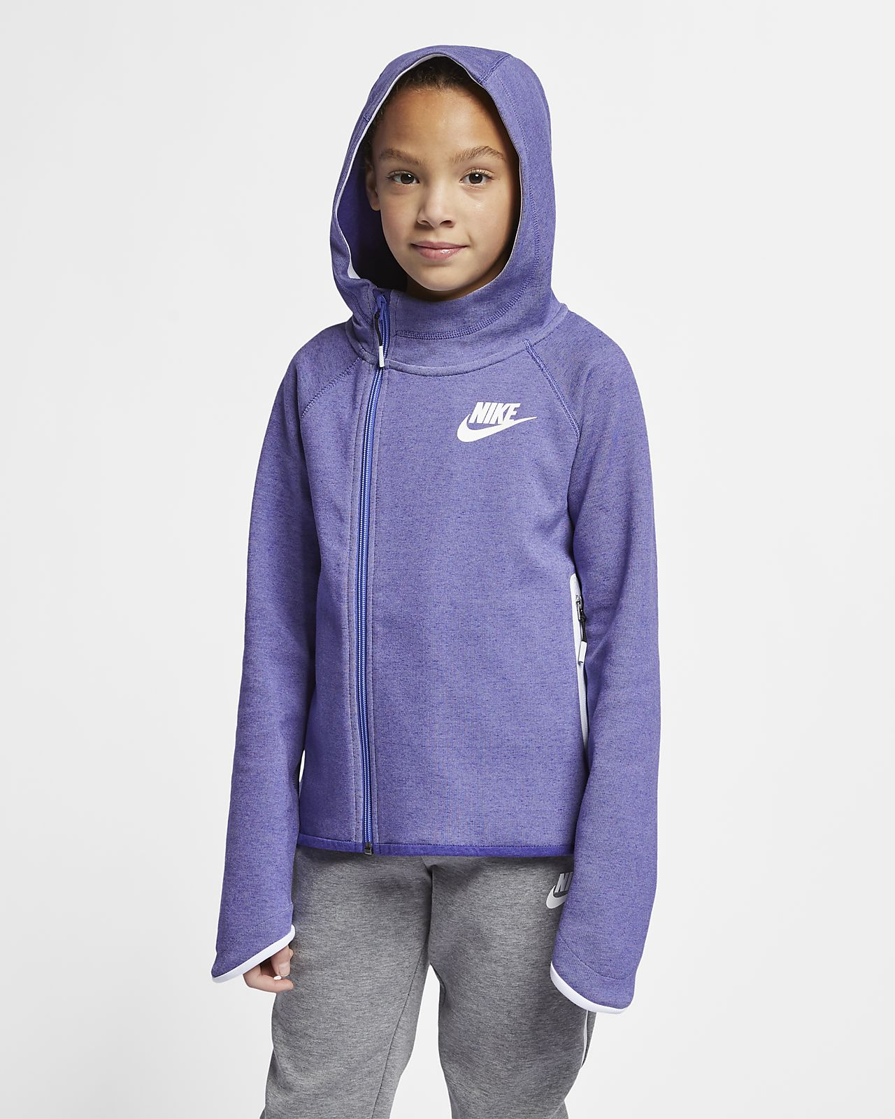 b8e1258be724 Nike Sportswear Tech Fleece Older Kids  (Girls ) Full-Zip Hoodie ...