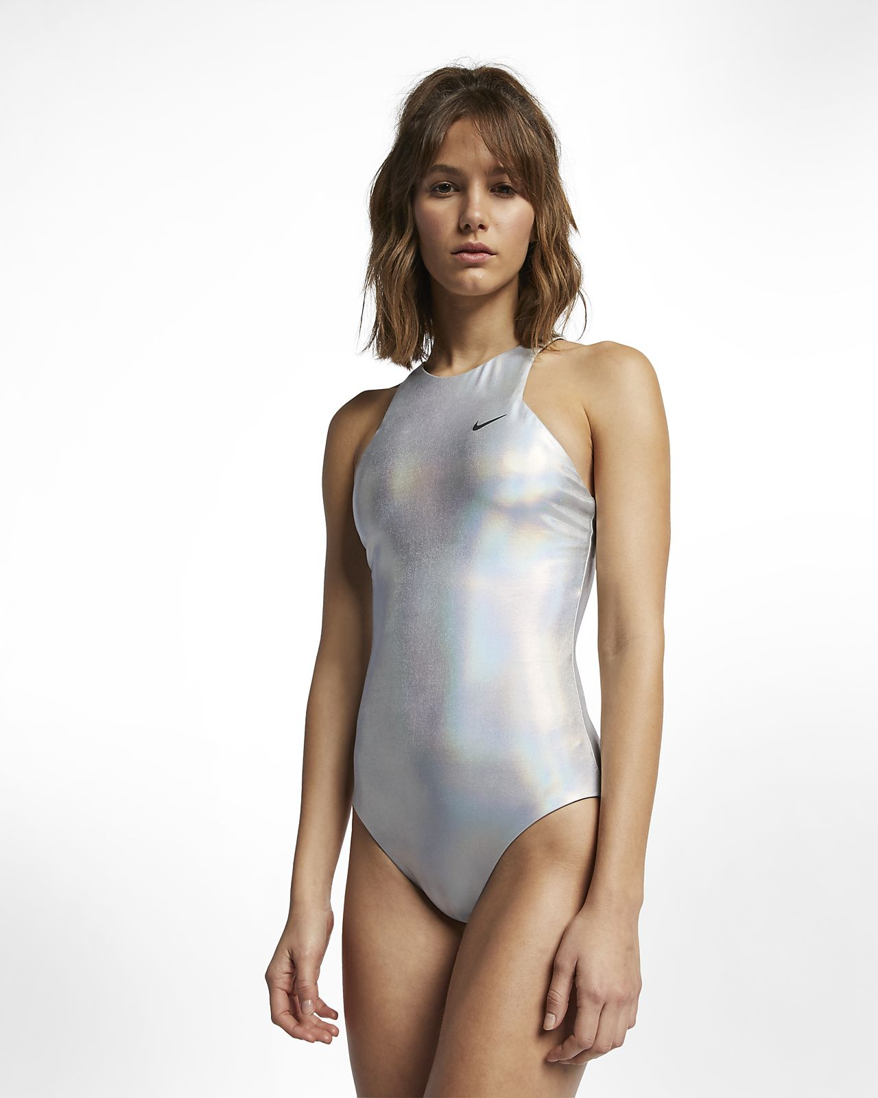 0ce3bb3651585 Nike Flash Highneck Women s One-Piece Swimsuit. Nike.com