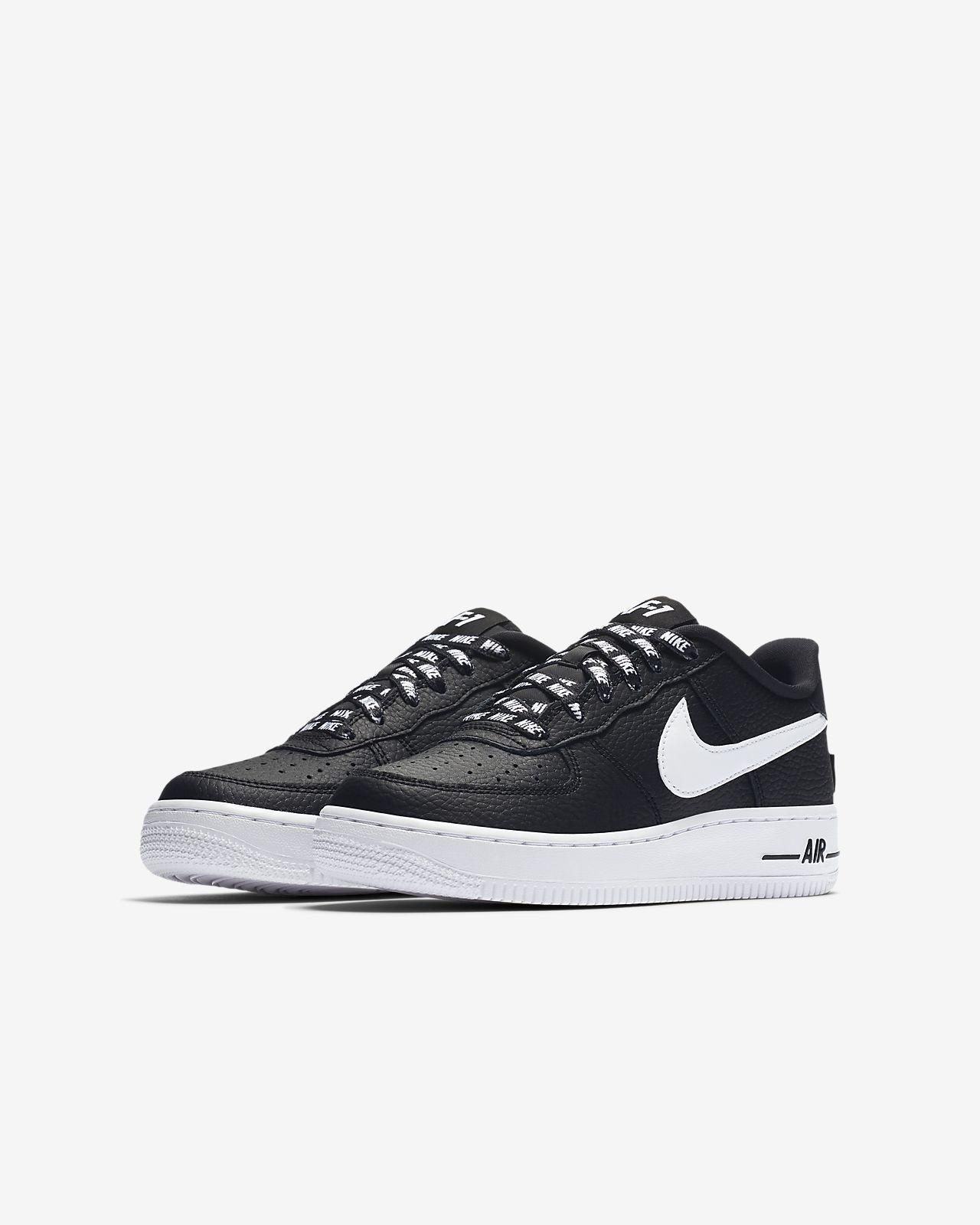 Chaussures NBA Nike Air Force 1 blanches garçon ccpyPKa