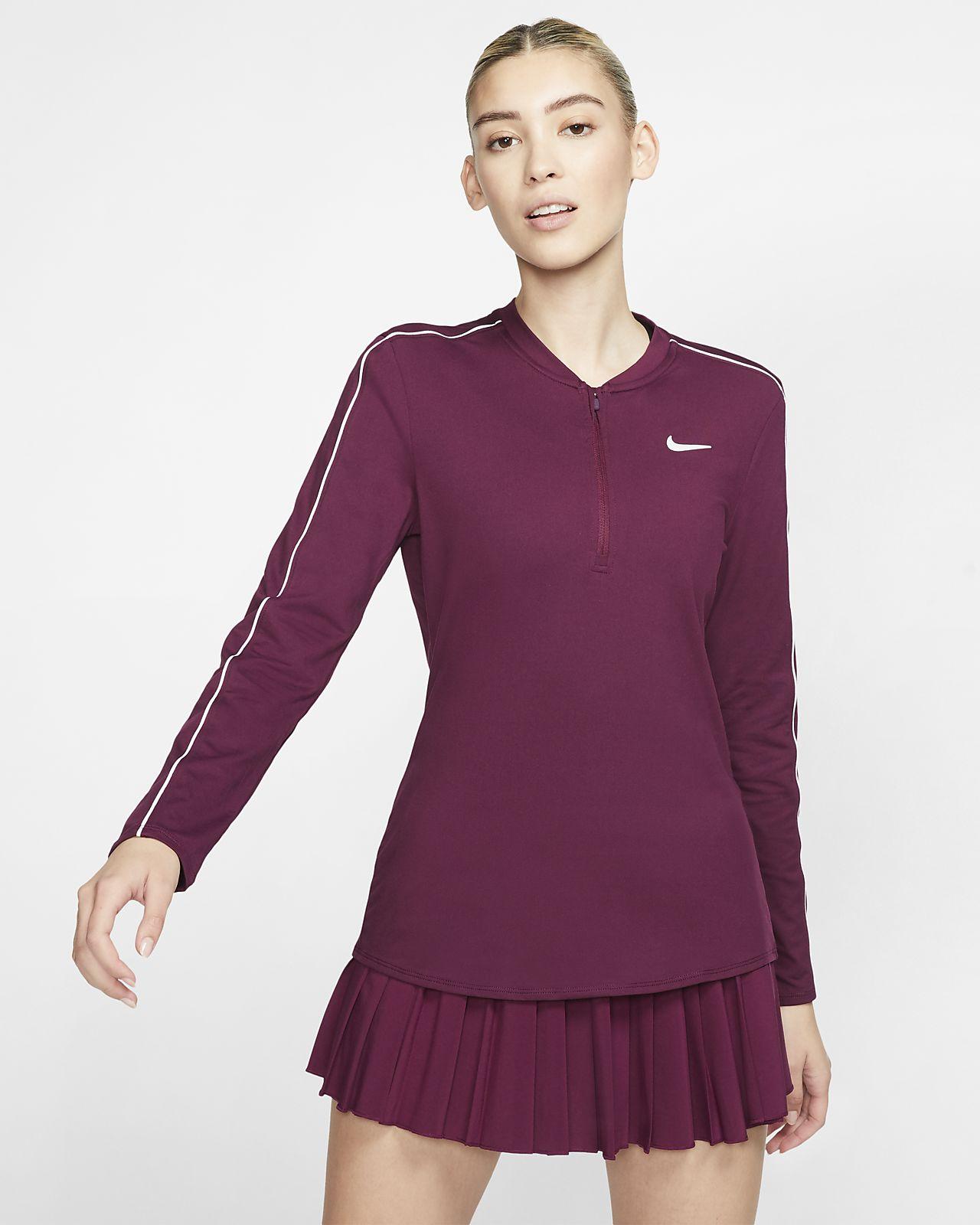 NikeCourt Dri-FIT Tennistop met halflange rits voor dames