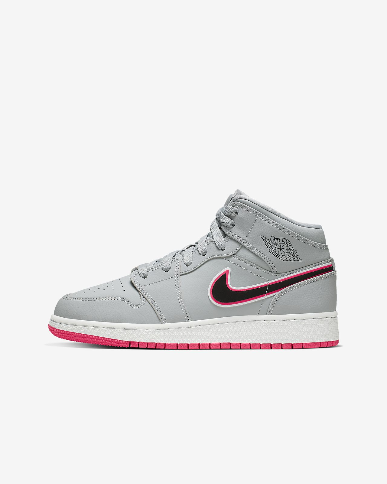 low priced 1cb79 fcb1c Air Jordan 1 Mid Big Kids' Shoe