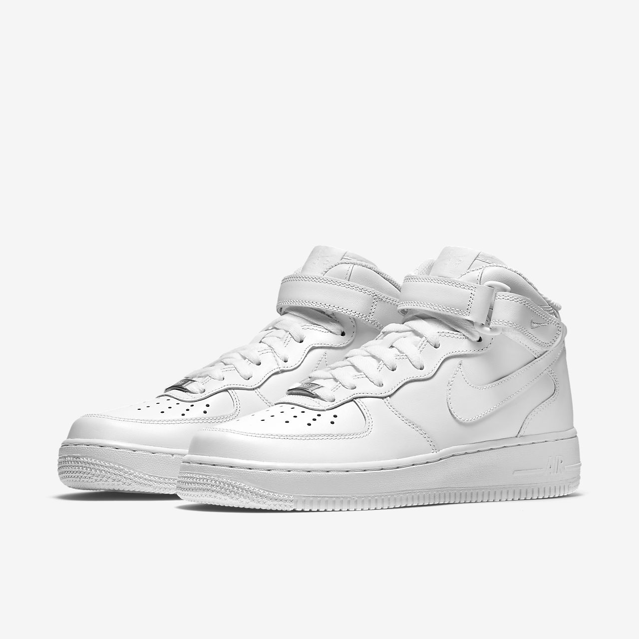 nike air force 1 mid 07 basketball shoes white\/white converse