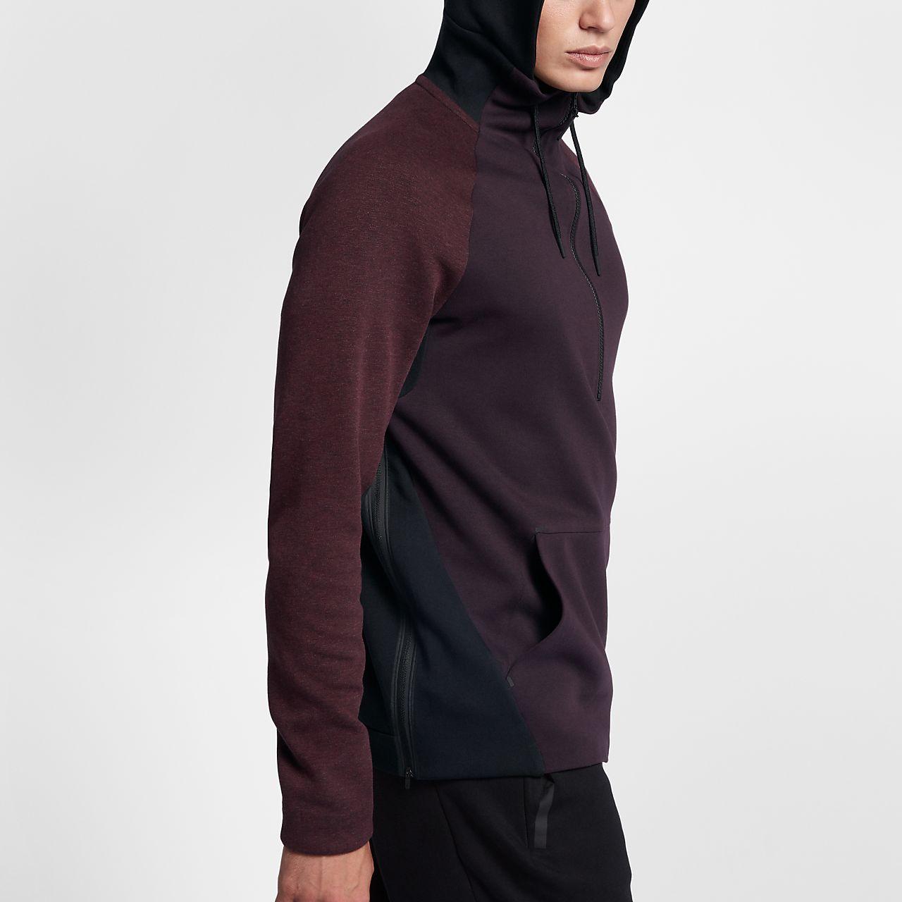 Nike Sportswear Tech Fleece hettegenser med halv glidelås for herre
