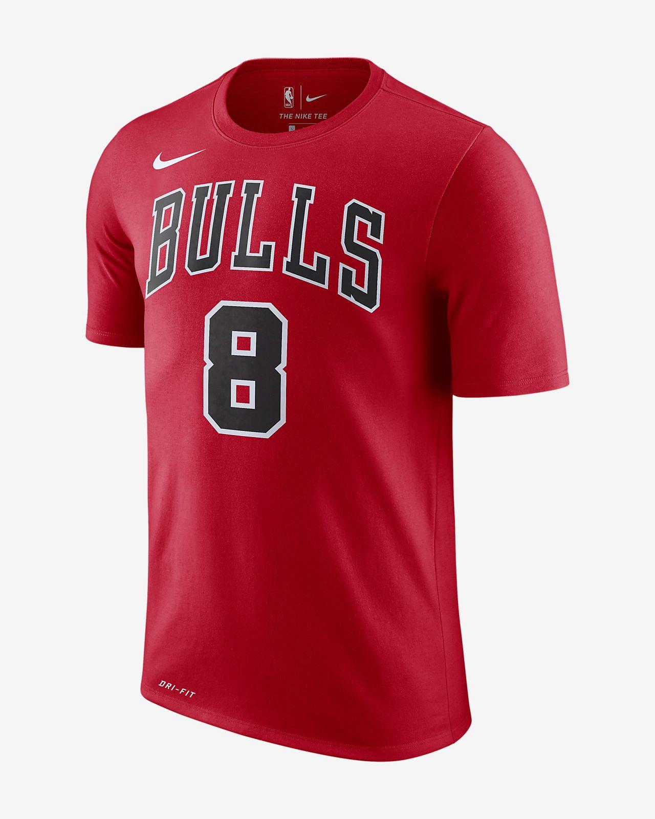 ザック ラビーン シカゴ ブルズ ナイキ Dri-FIT メンズ NBA Tシャツ