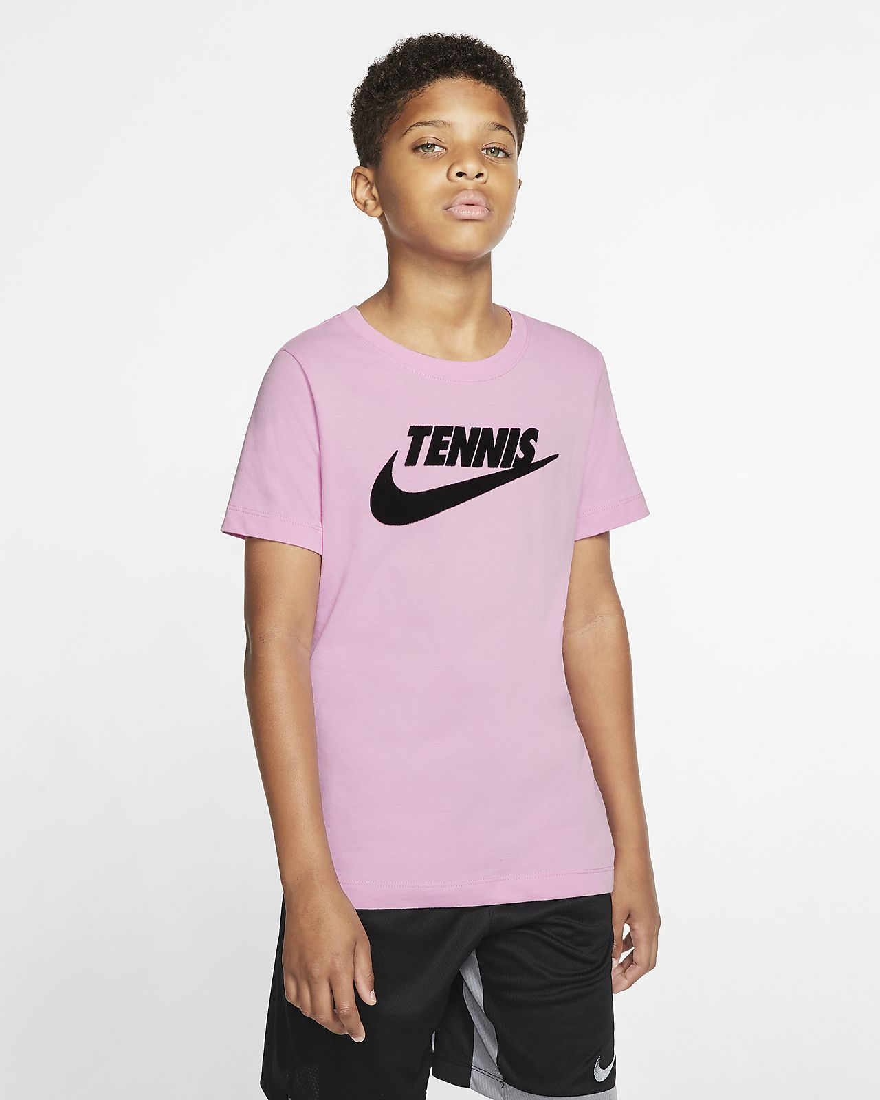 Tennis-t-shirt med grafik NikeCourt Dri-FIT för killar