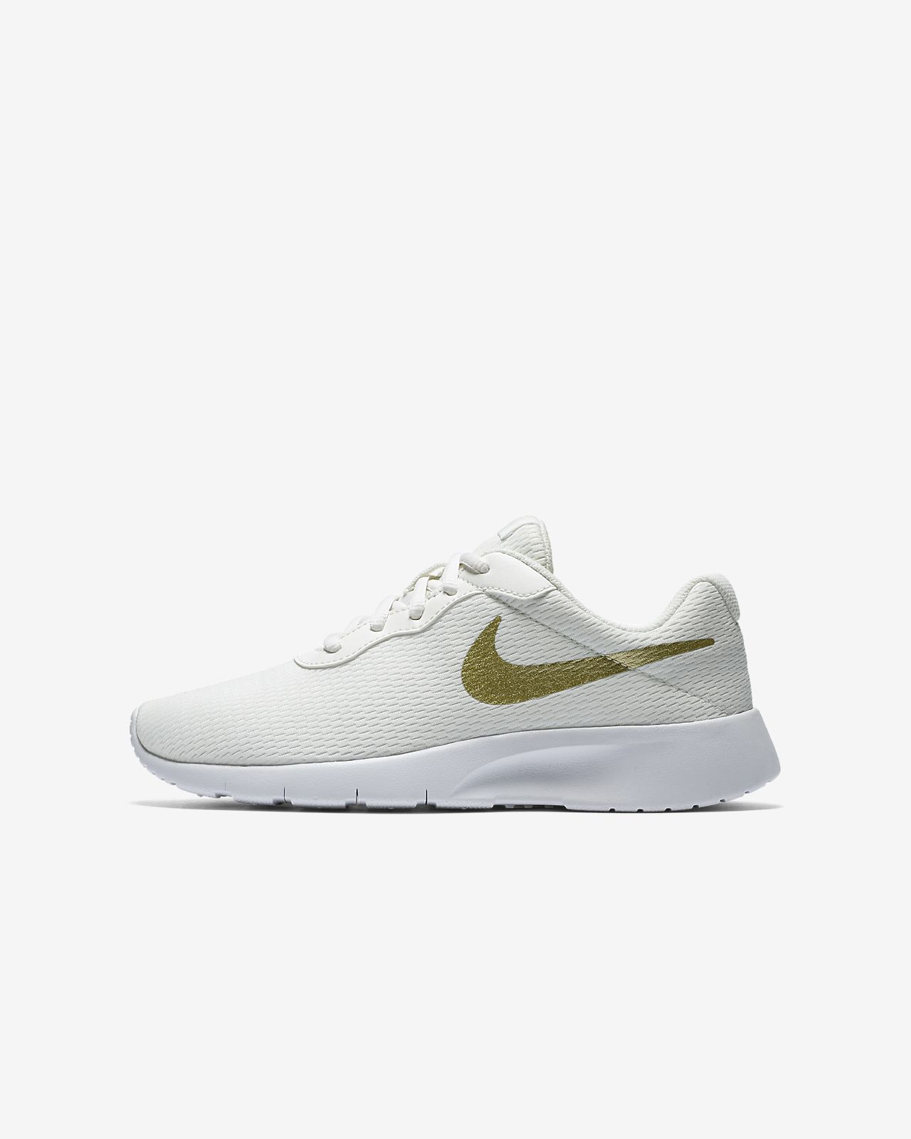 Nike AIR FORCE 1 GRADE SCHOOL White Gold Kids Shoes S04DDBR7N