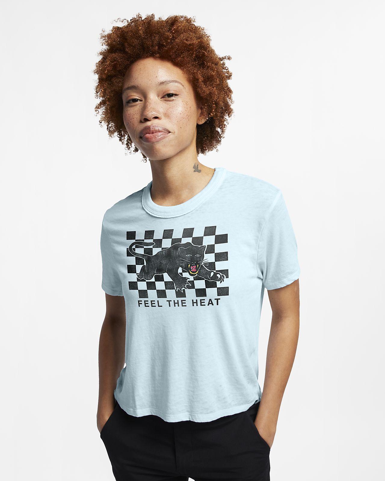 Rundhalsad, kort t-shirt Hurley Feel The Heat Burnout för kvinnor