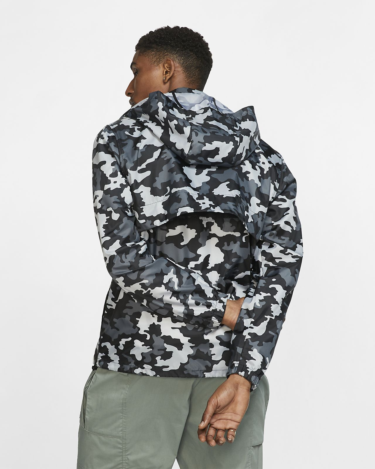 Jacket Men's Hooded Sportswear Camo Nike 76yfYbg