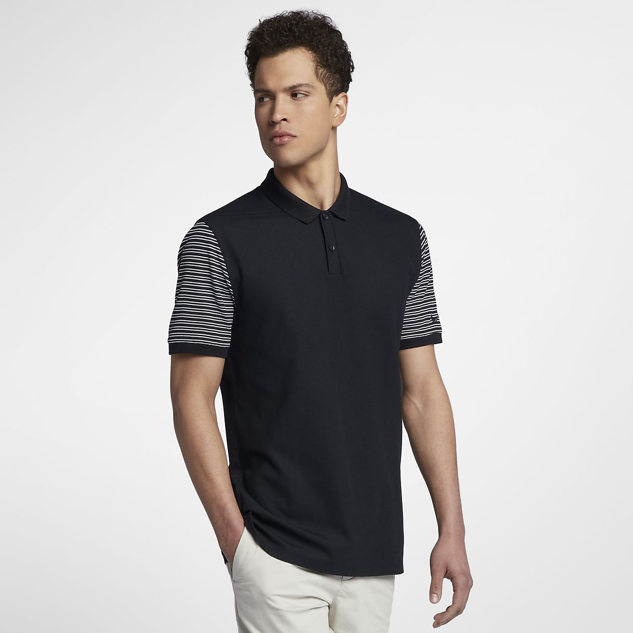 ... Nike Dri-FIT Pique Stripe Men's Standard Fit Golf Polo