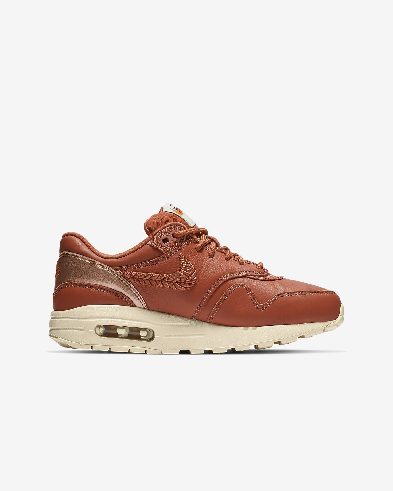 on sale 270eb dc7d3 ... Nike Air Max 1 Premium Embroidered Big Kids  Shoe