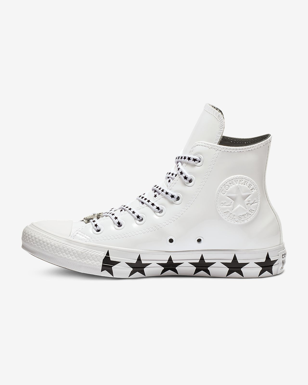 9cbb59868574 ... switzerland converse x miley cyrus chuck taylor all star faux patent  high top womens shoe 56a11