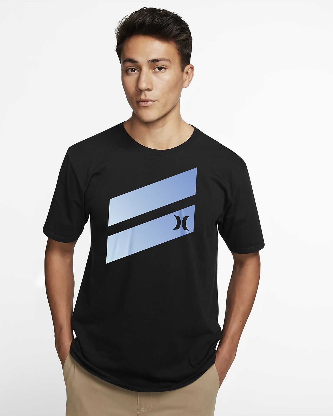 Hurley Premium Icon Slash Gradient Men's Premium Fit T-Shirt