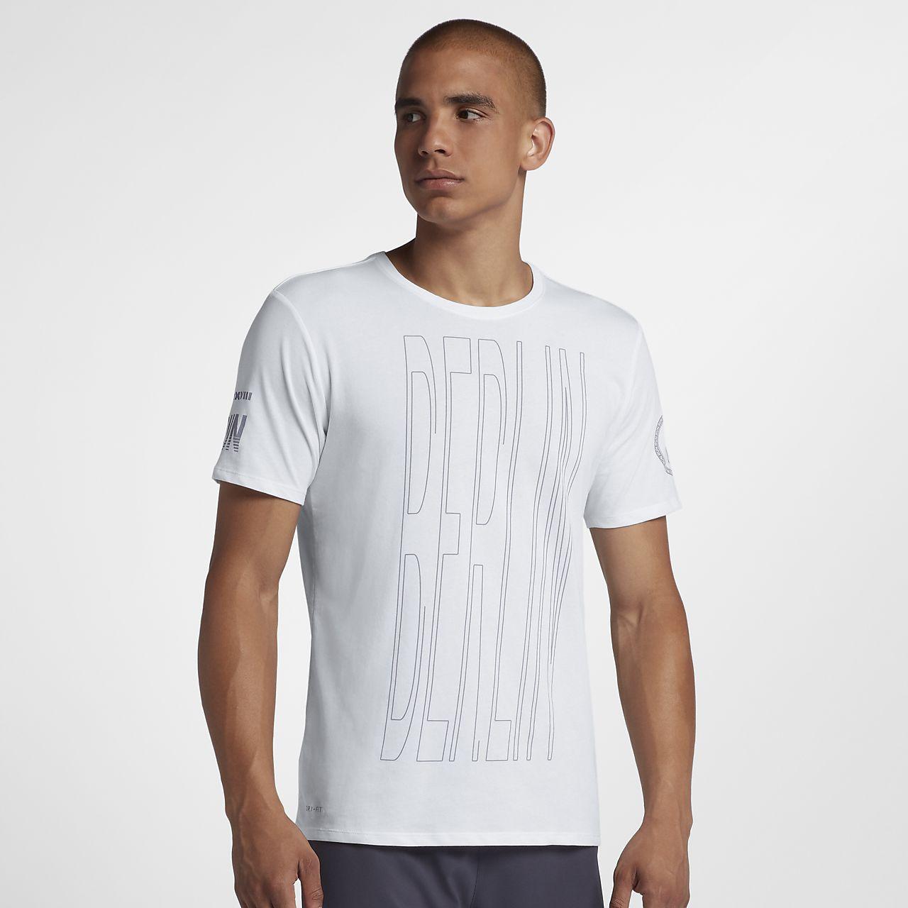 Nike Dri-FIT (Berlin 2018)-løbe-T-shirt til mænd