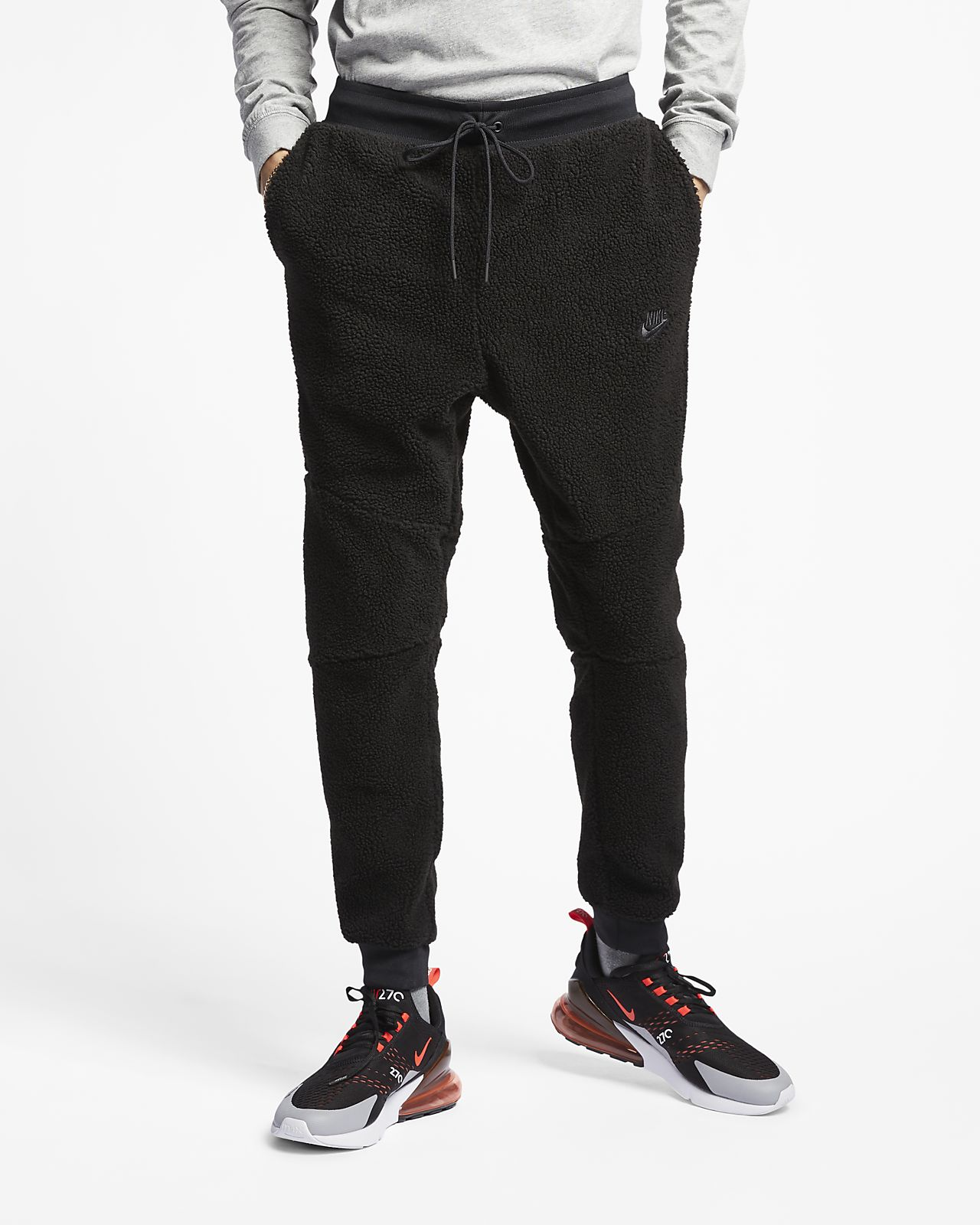 56d05298cf343 Pantalon de jogging en sherpa Nike Sportswear Tech Fleece Icon pour Homme