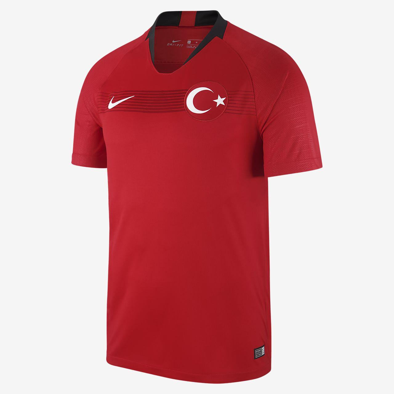 c1b9f415dc0 Camiseta de fútbol para hombre 2018 Turkey Stadium Home/Away. Nike ...