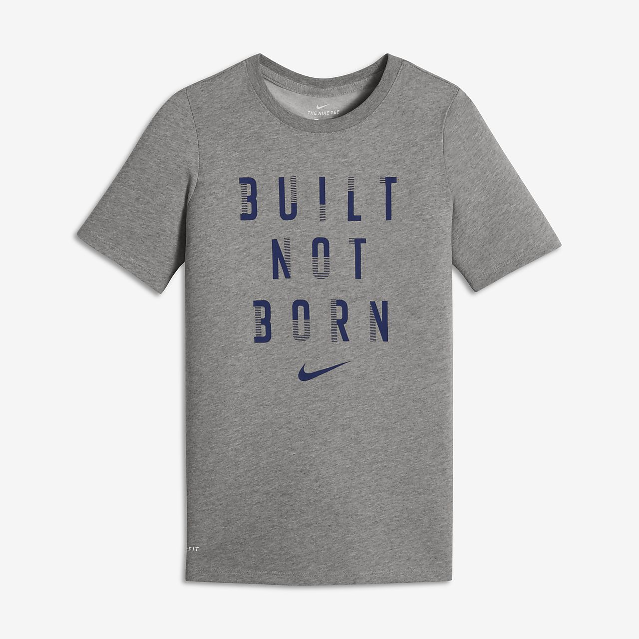 Nike Dry Big Kids' Short Sleeve Training Tops Dark Grey Heather/Black