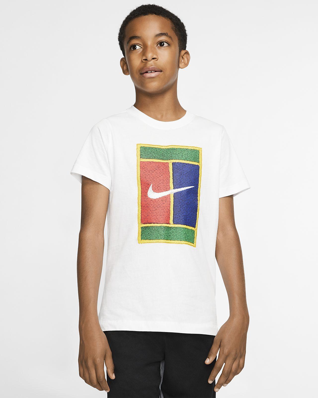 Tennis-t-shirt NikeCourt för pojkar