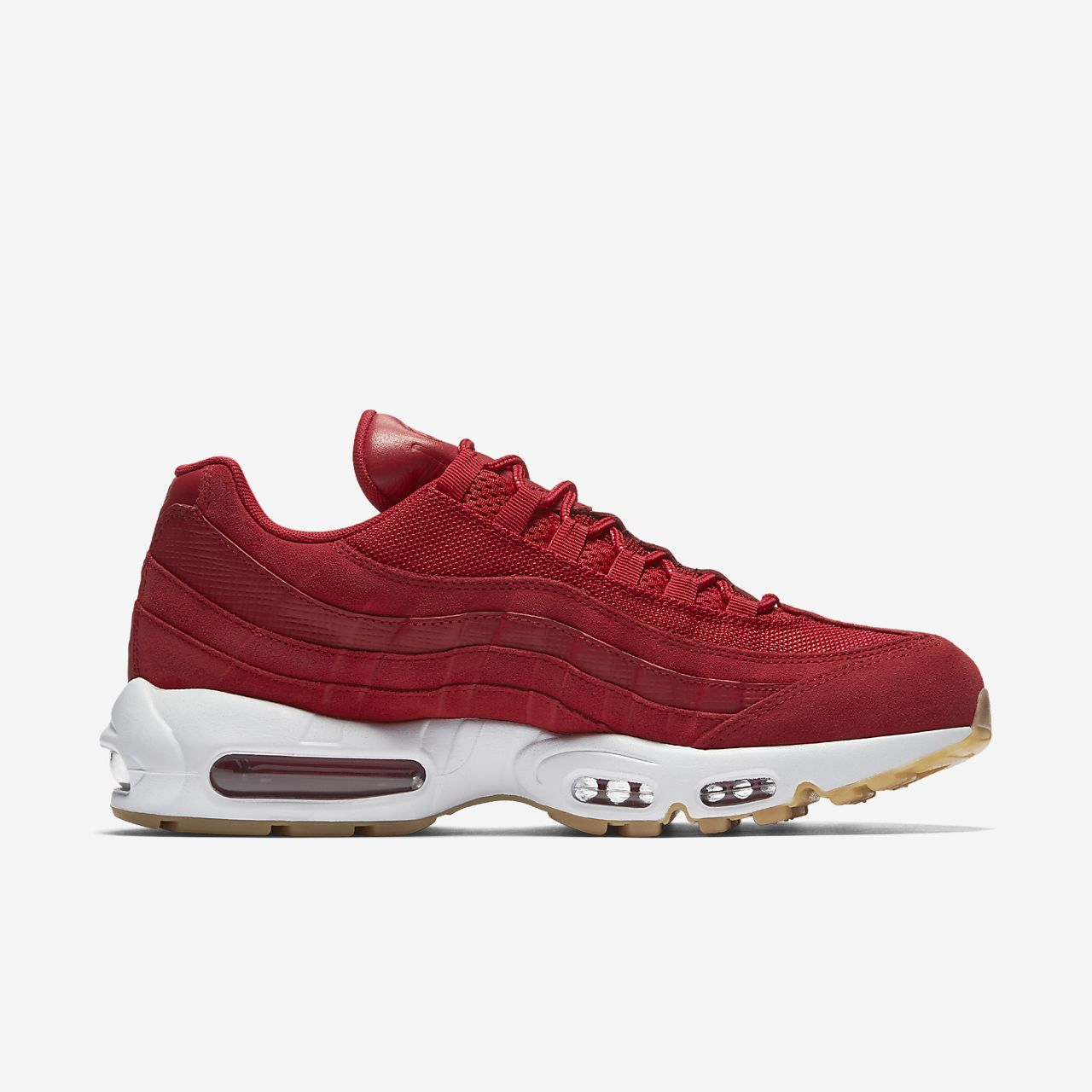 Air Max 95 Premium Trainers In Red - Red Nike Xcp6F3tj