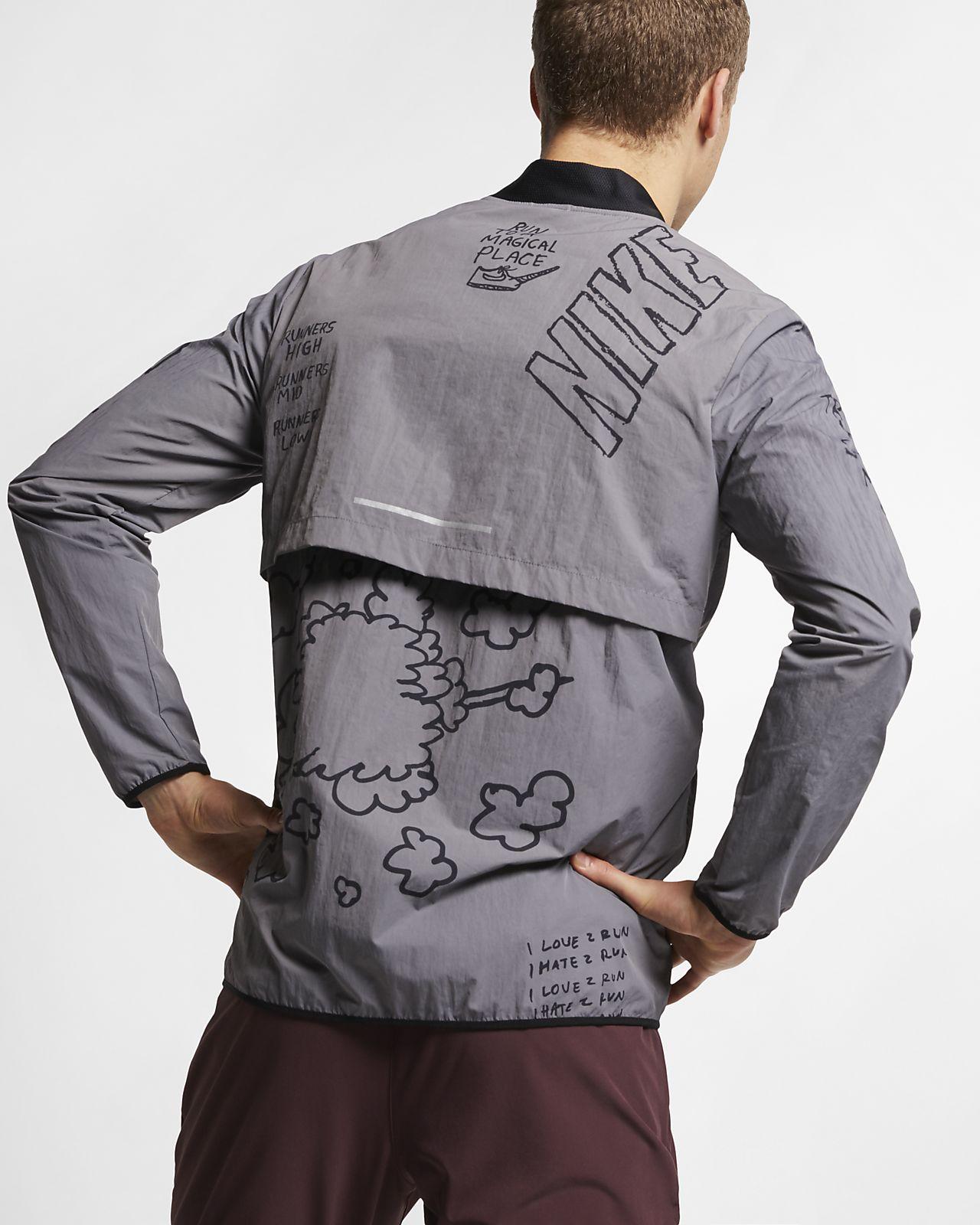 Nike Nathan Bell Laufjacke mit Print für Herren
