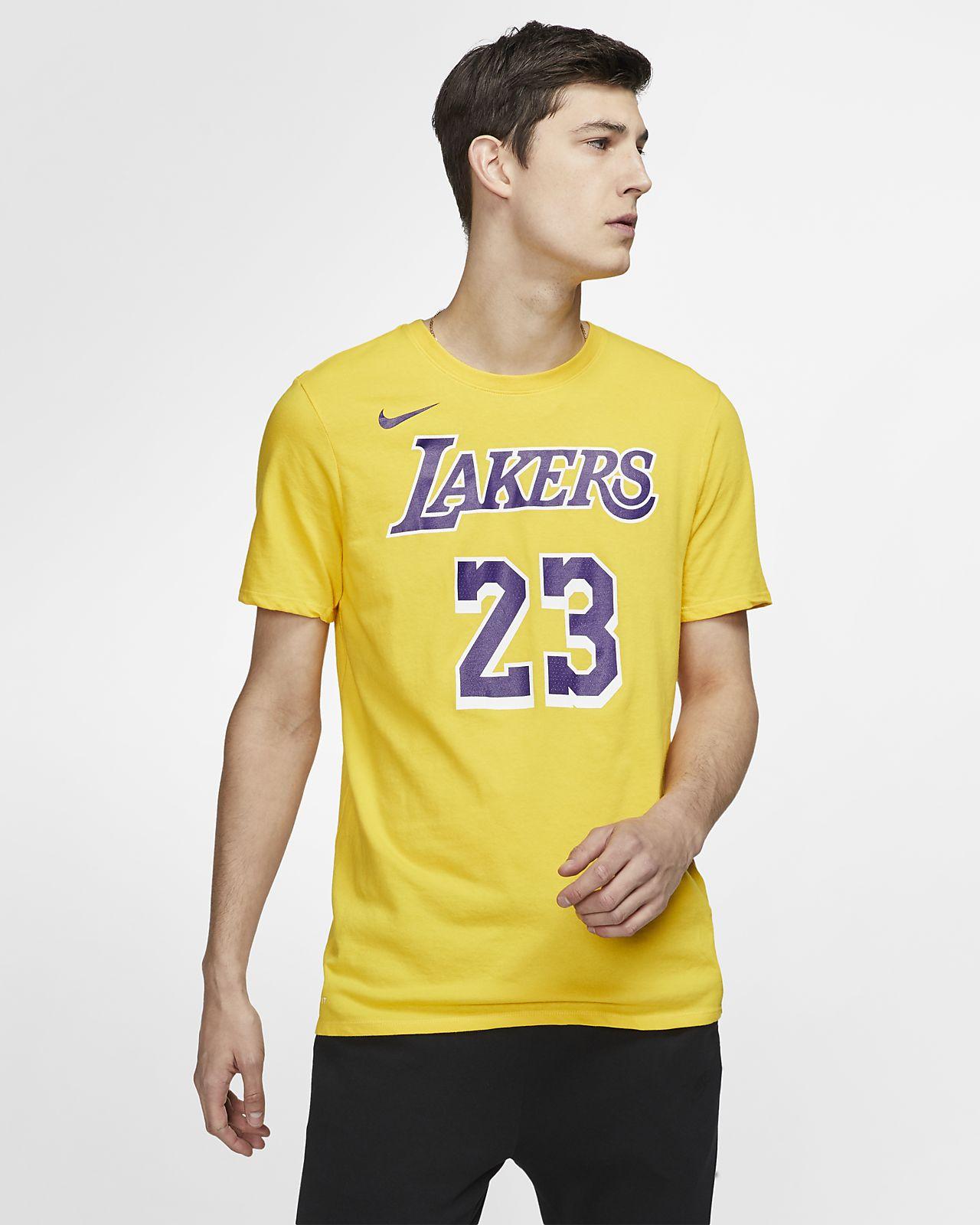 f155ed38ec2 LeBron James Los Angeles Lakers Nike Dri-FIT Men's NBA T-Shirt. Nike.com
