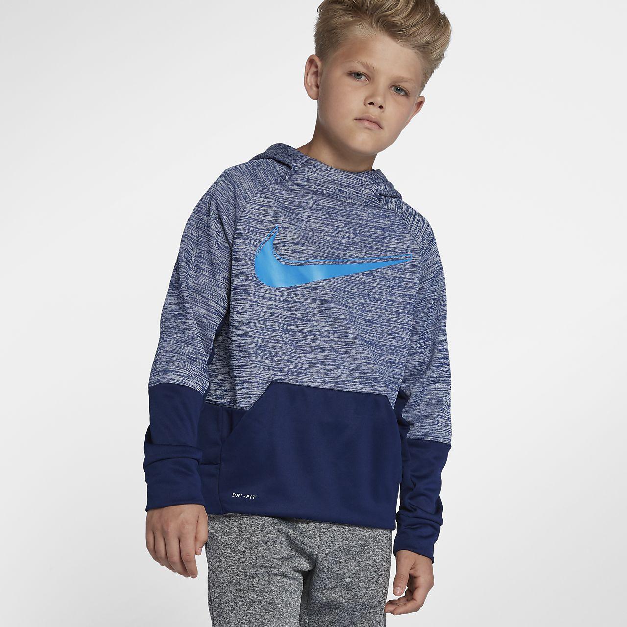 Nike Dri-FIT Therma Big Kids' (Boys') Pullover Training Hoodie
