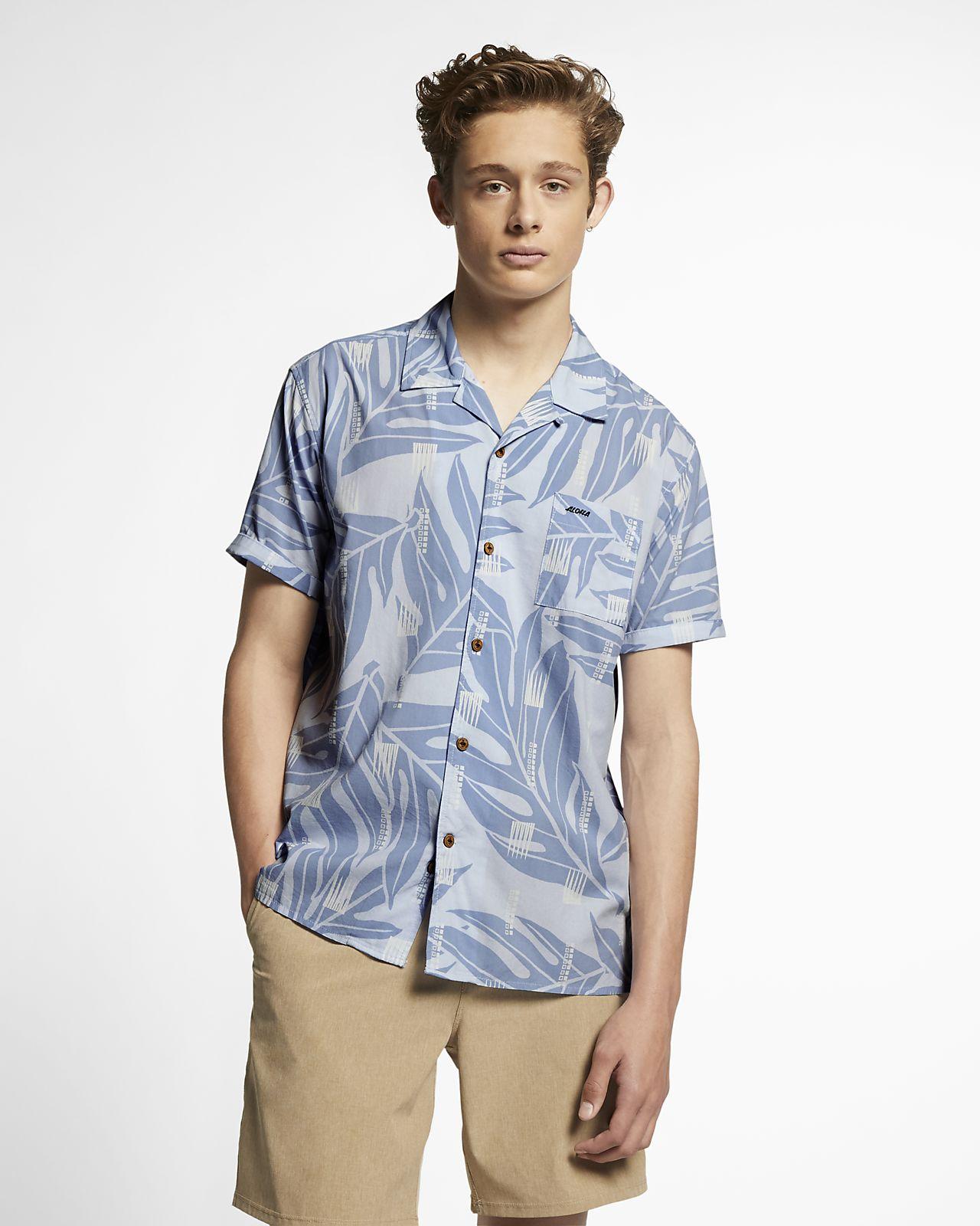 Chemise à manches courtes Hurley Sig Zane Maloulu pour Homme