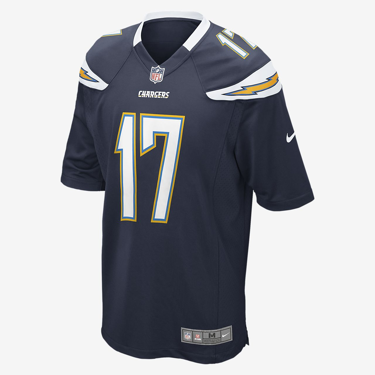 ... Camiseta oficial de fútbol americano de local para hombre NFL Los  Angeles Chargers (Philip Rivers 5c6d1373cf760