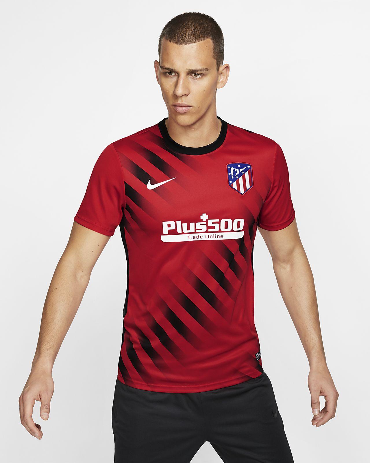 Prenda para la parte superior de fútbol de manga corta para hombre Atlético de Madrid