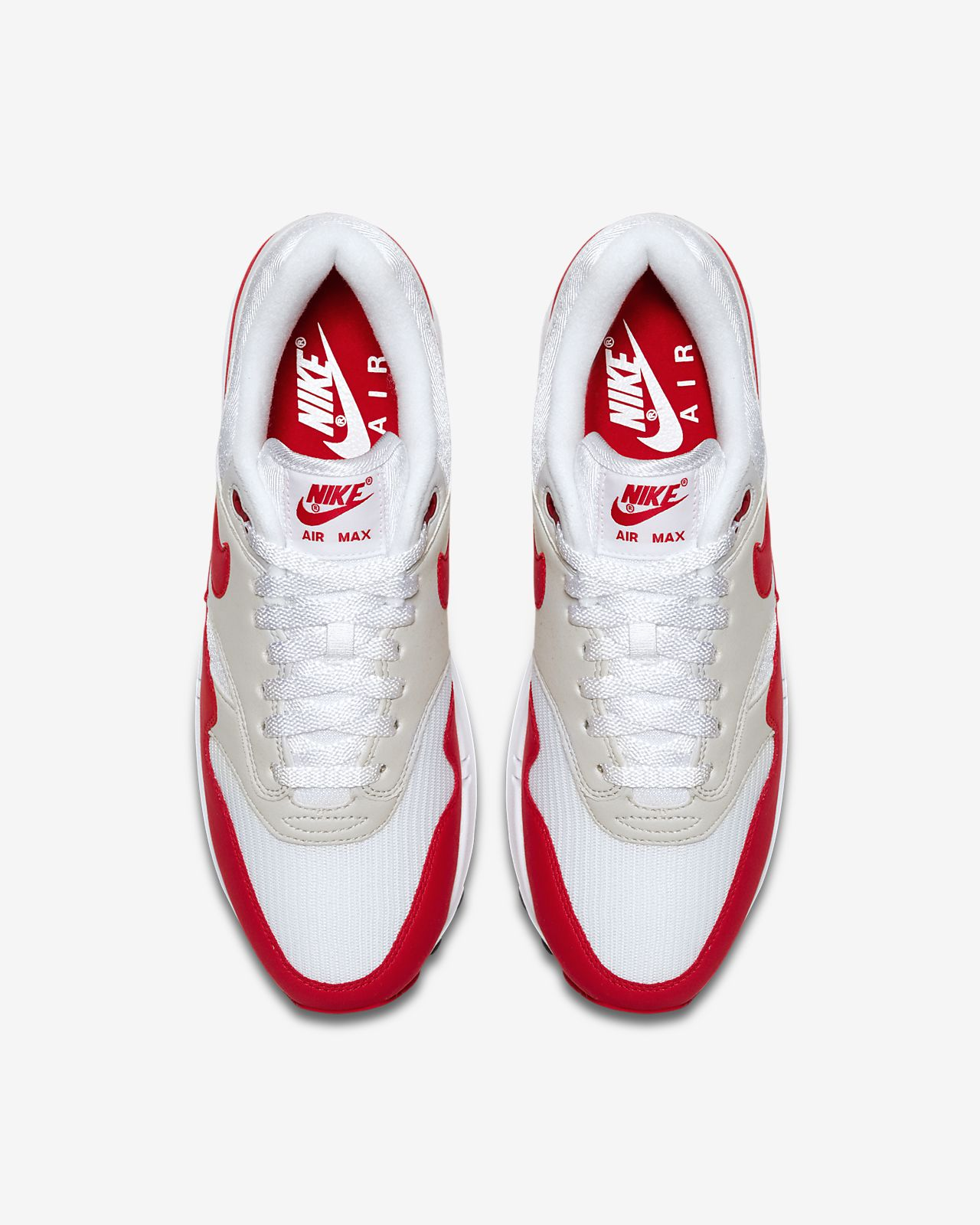 nike air max 1 red and white mens nz