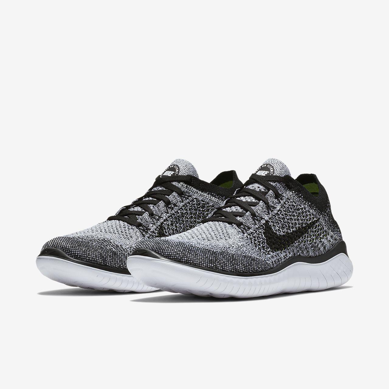 Nike - Free RN Flyknit 2018 Hommes chaussure de course (gris clair) - EU