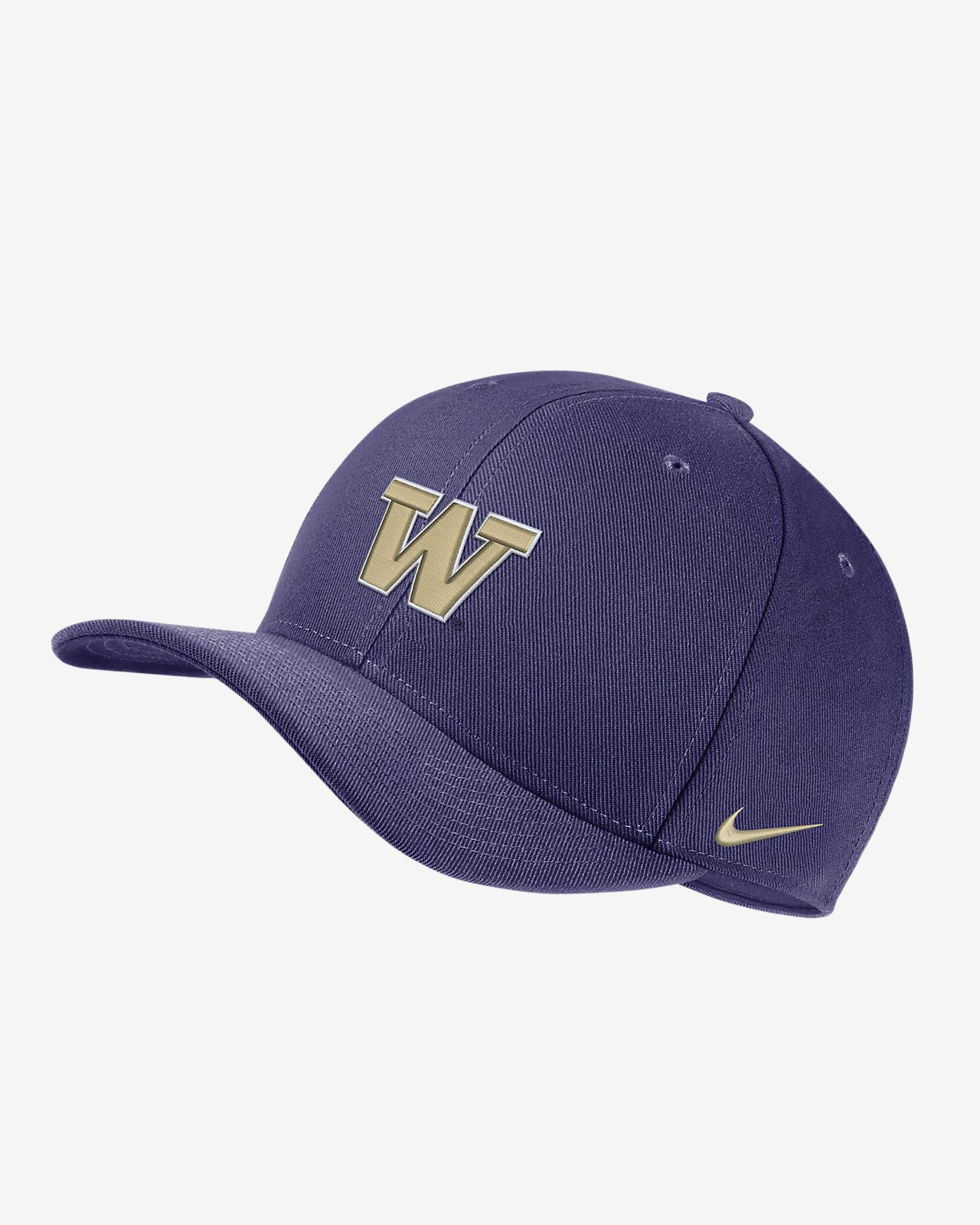 Nike College Dri-FIT Classic99 Swoosh Flex (Washington) Fitted Hat ... 60aa507d0a