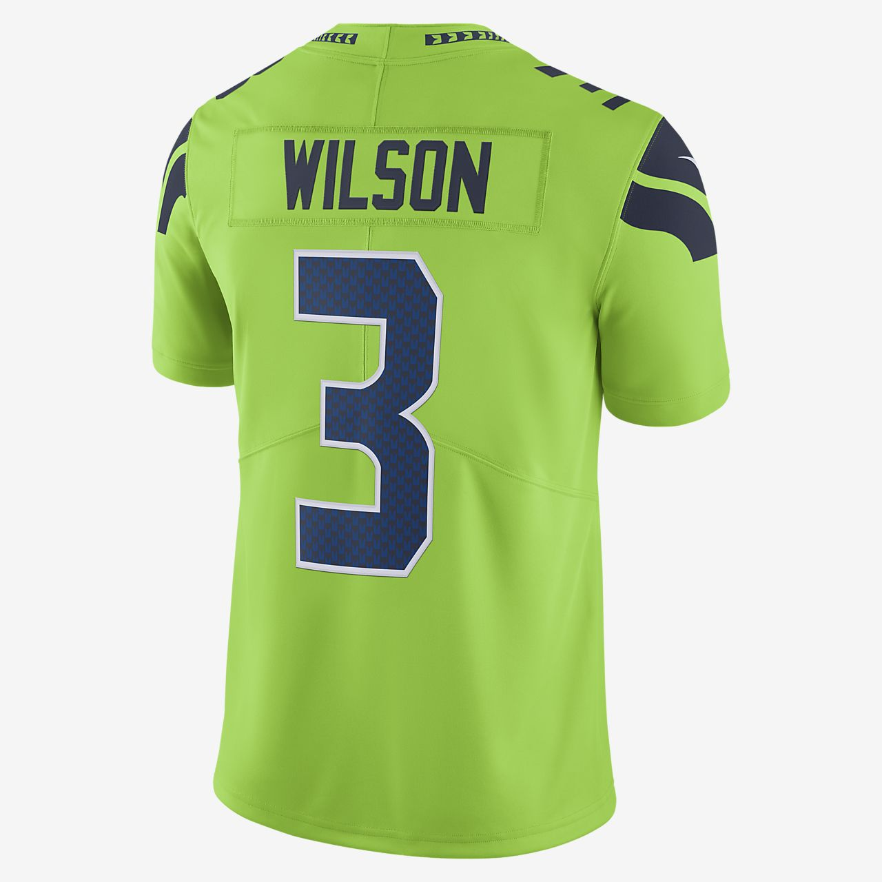 buy online b970d 316ee NFL Seattle Seahawks Dri-FIT (Russell Wilson) Men's Limited Colour Rush  American Football Jersey