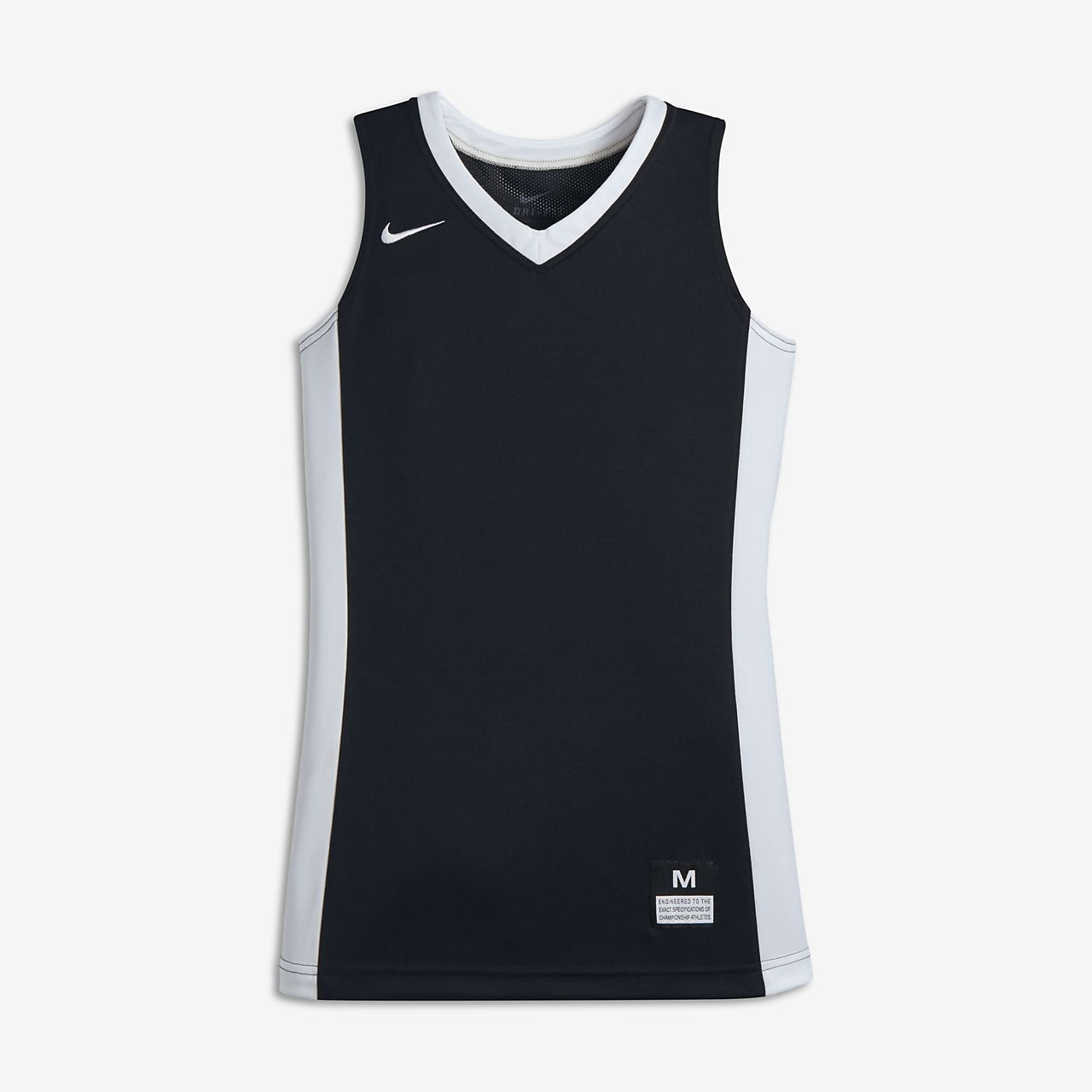 Nike Team Big Kids' Sleeveless Basketball Jersey Team Black/Team White