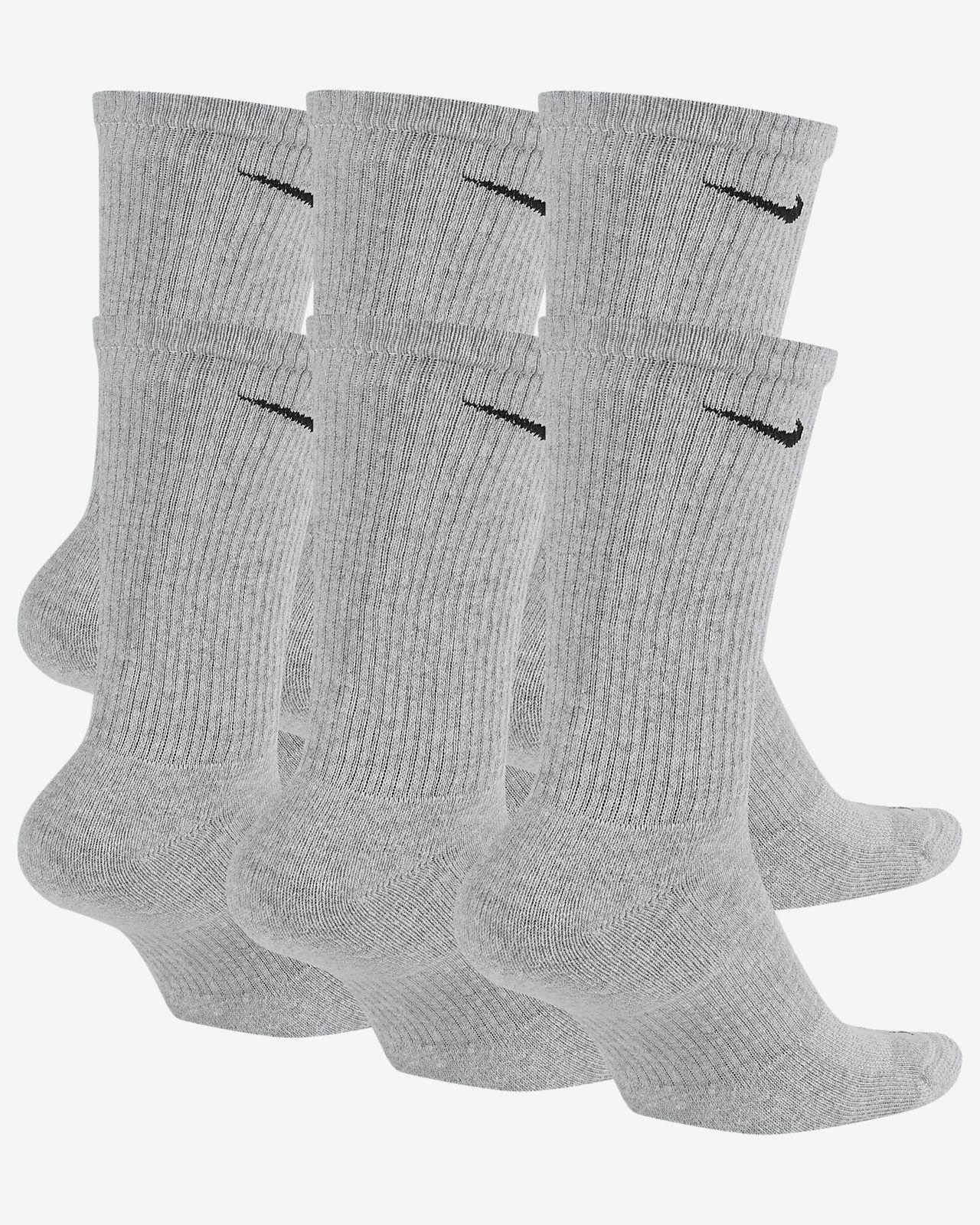 e5b7651768 Nike Everyday Plus Cushion Crew Training Socks (6 Pair). Nike.com