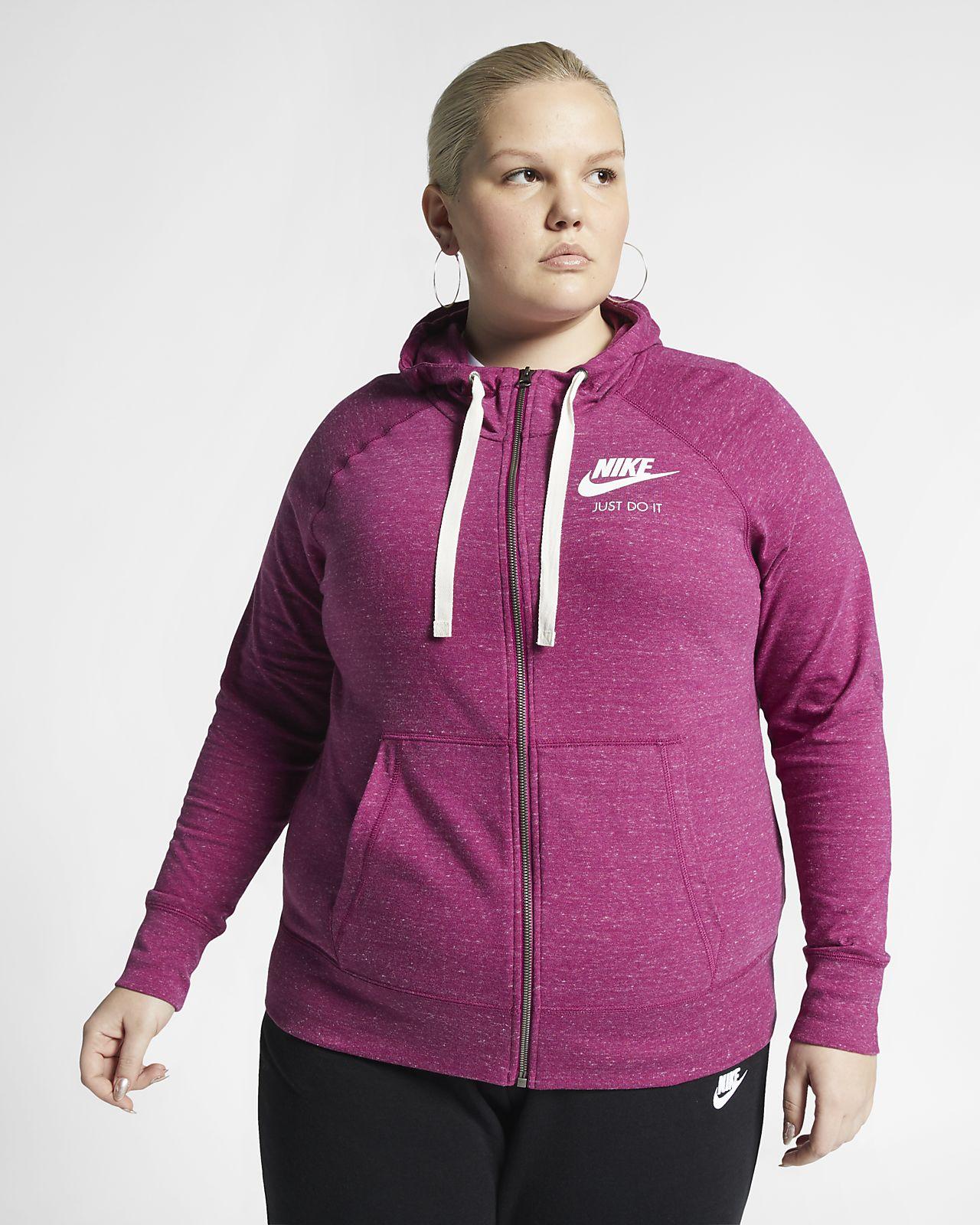 Nike Sportswear Gym Vintage Women's Full-Zip Hoodie (Plus Size)
