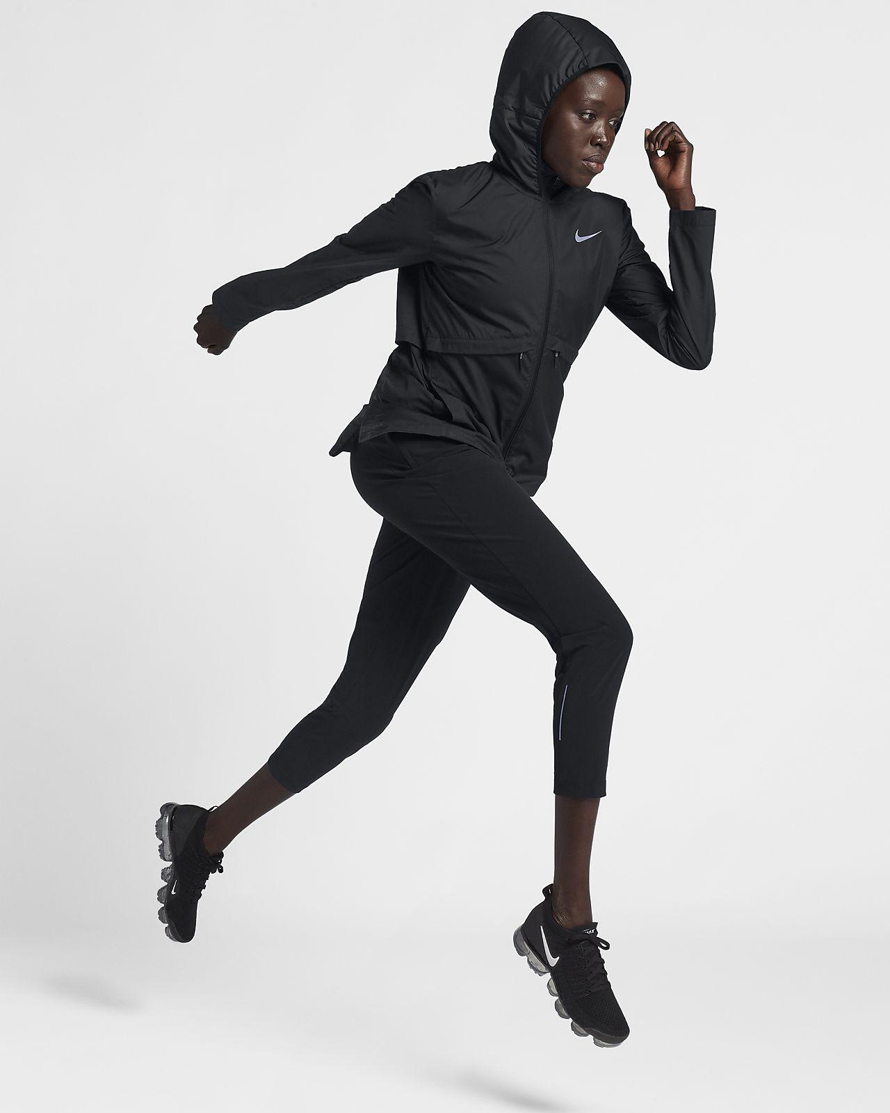 Nike für Damen Essential Lauf verstaubare Regenjacke rCdQshxt