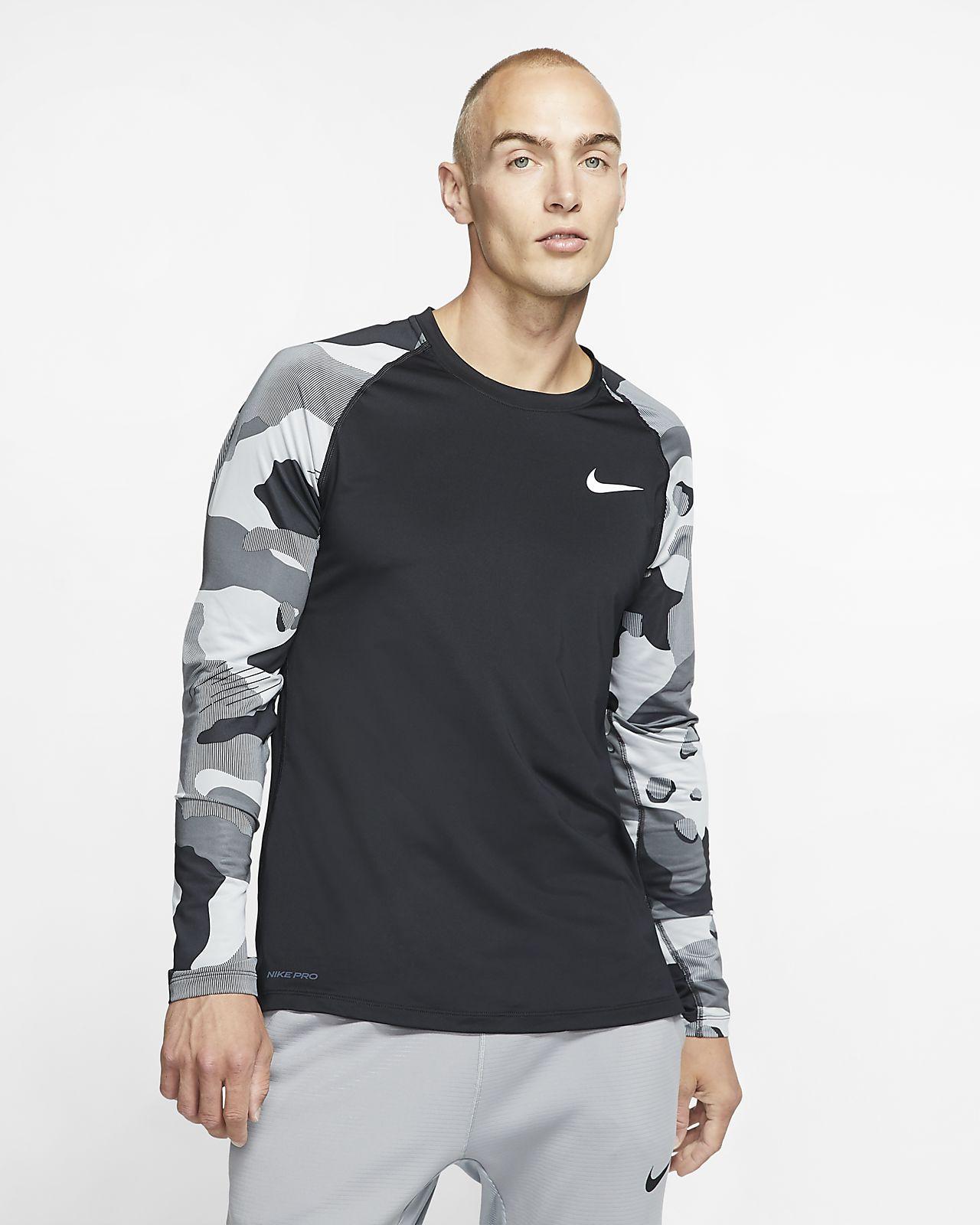 Nike Pro-langærmet overdel til mænd